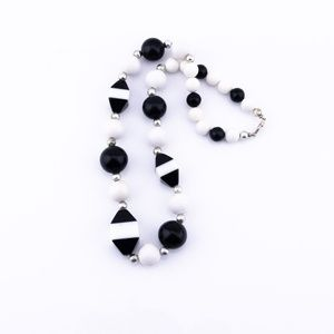 Chunky Choker Style Necklace, Black and White